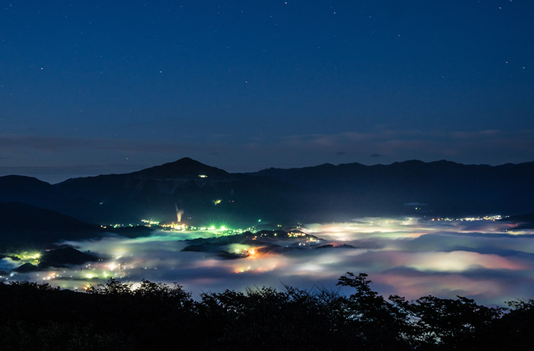 美の山公園の夜景