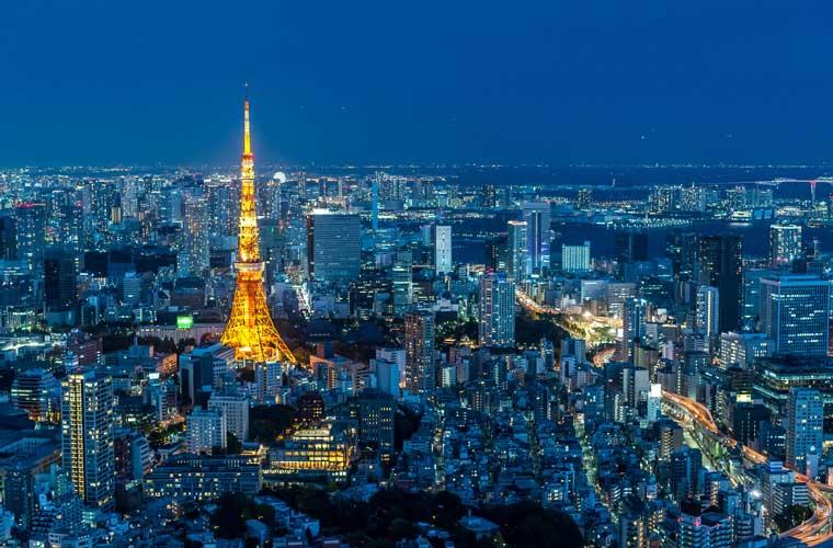 六本木ヒルズ展望台 東京シティビューの夜景