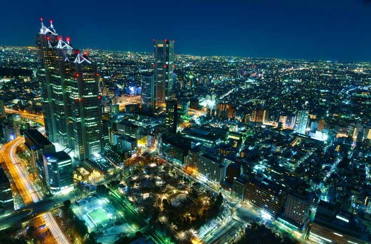 東京都庁 展望室の夜景