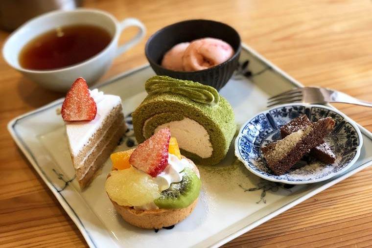 高知 土佐茶カフェ「プチteaセット」
