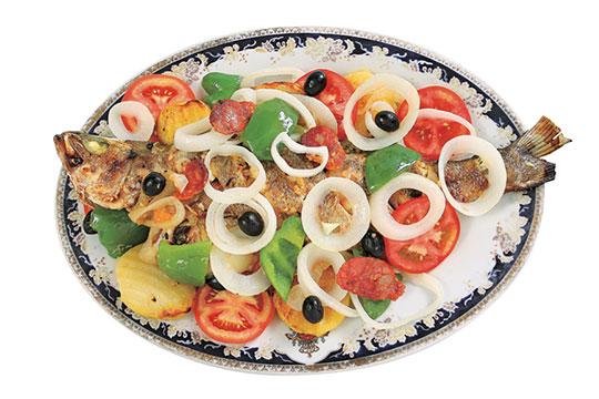 白身魚と野菜の蒸し焼き