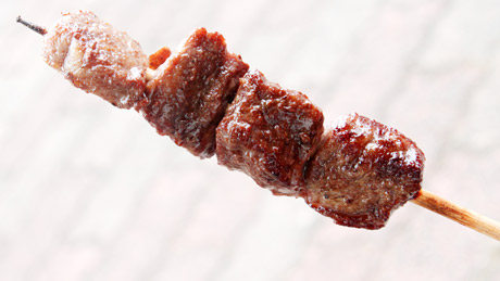 飛騨牛の串焼き