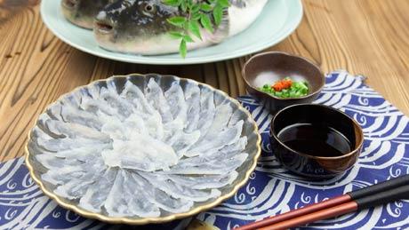 Le sashimi de poisson-globe « tessa »