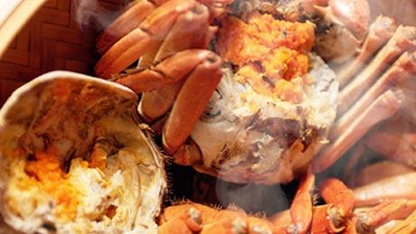 上海ガニ料理