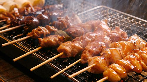Yakitori (Broiled Chicken Skewers)