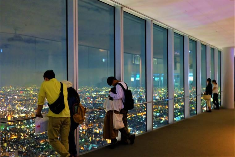 大阪 60階展望台「ハルカス300」からの夜景