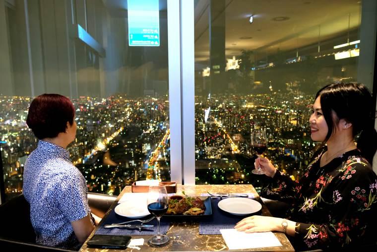 大阪 あべのハルカス 『SKY GARDEN 300』夜景のディナー