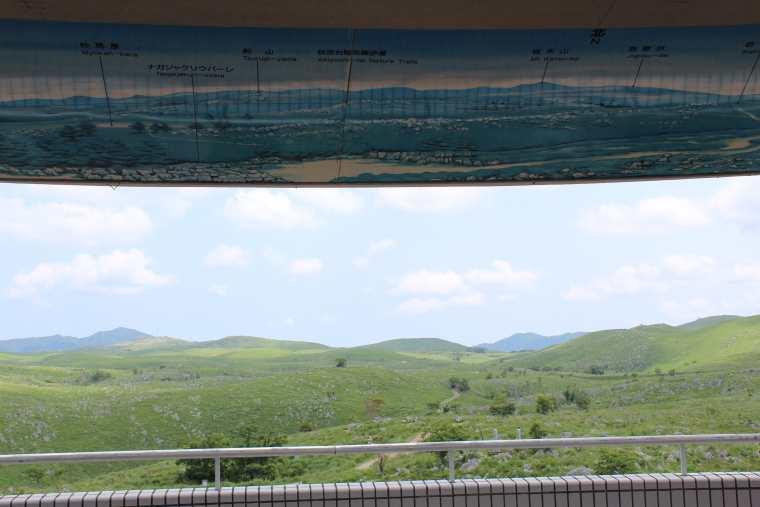 秋吉台カルスト展望台からの眺望