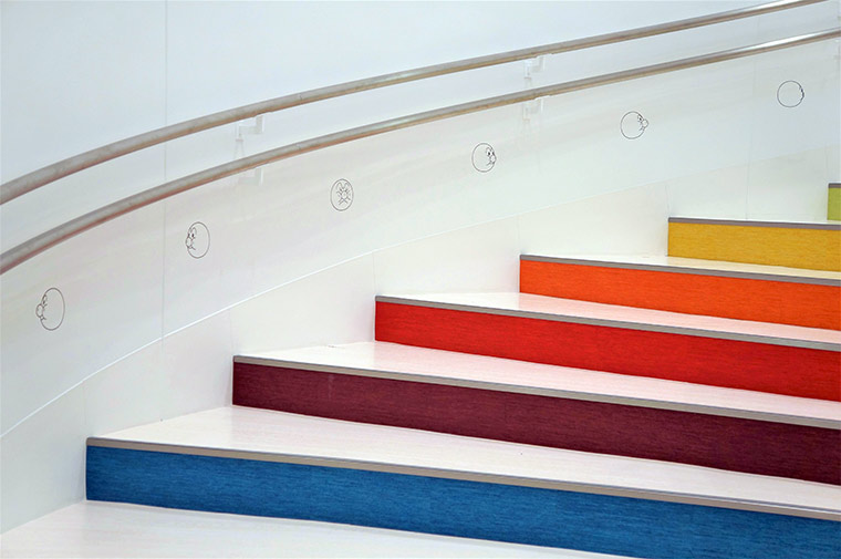 アンパンマンミュージアム 階段