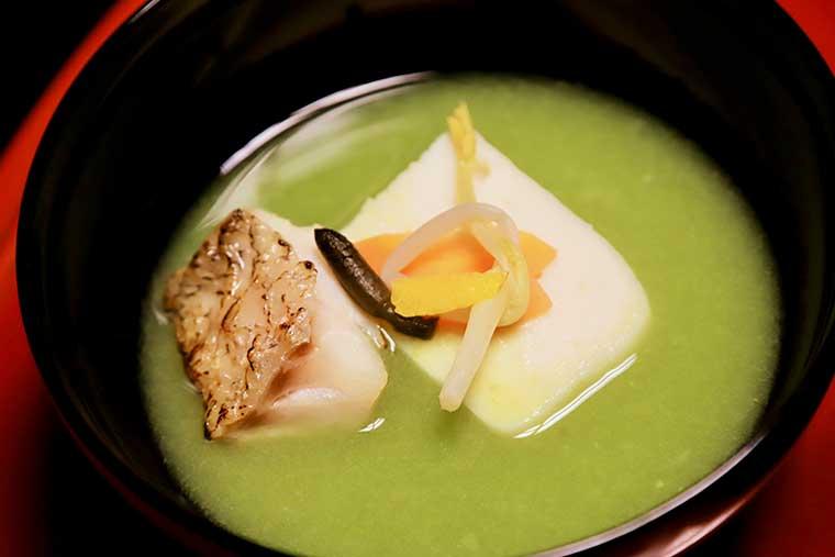 新井旅館 料理 うぐいす椀