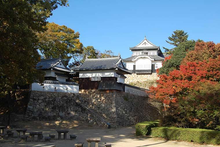 紅葉の備中松山城
