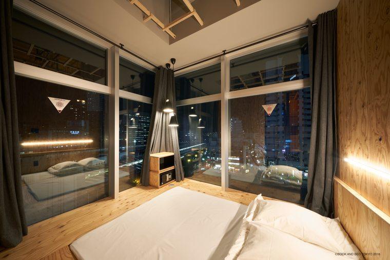 「BOOK AND BED TOKYO SHINJUKU」新宿歌舞伎町 ホテル 本屋