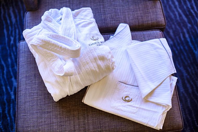 ザ・キャピトルホテル 東急 オリジナルのバスローブやナイトウェア
