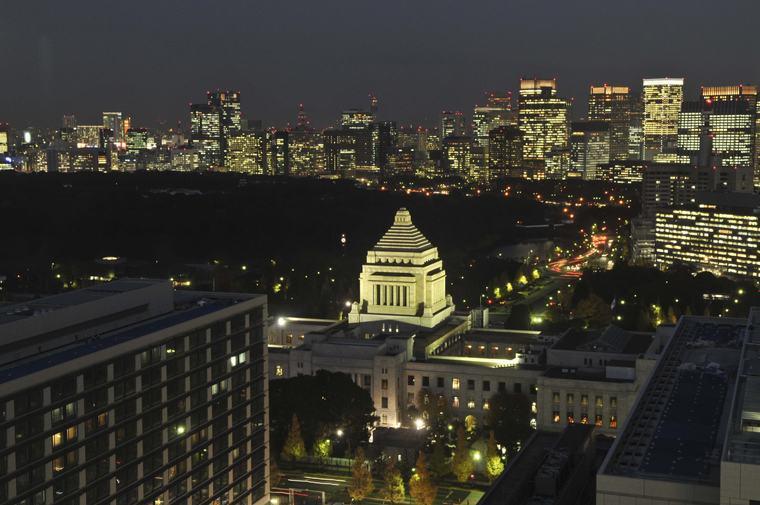 ザ・キャピトルホテル 東急 夜景 ライトアップ 国会議事堂