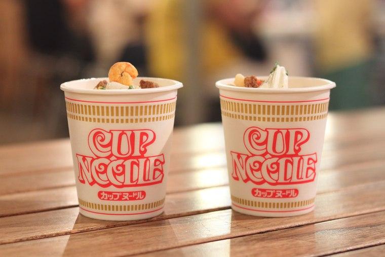 カップヌードルミュージアム 横浜 ソフトクリーム