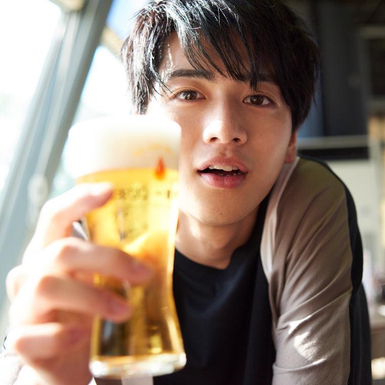 最後はできたてのビールを試飲しまーす