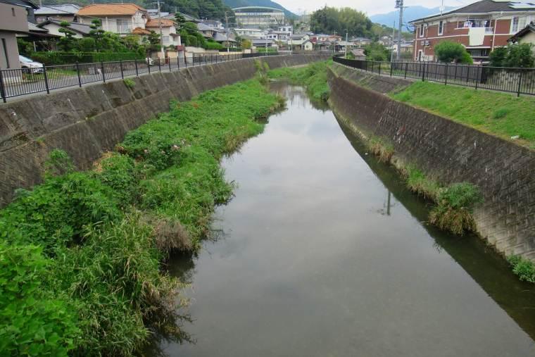 御笠川(みかさがわ)に平行する歴史の散歩道