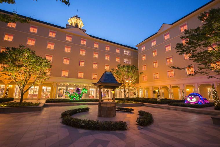 東京ディズニーセレブレーションホテル ウィッシュ 中庭
