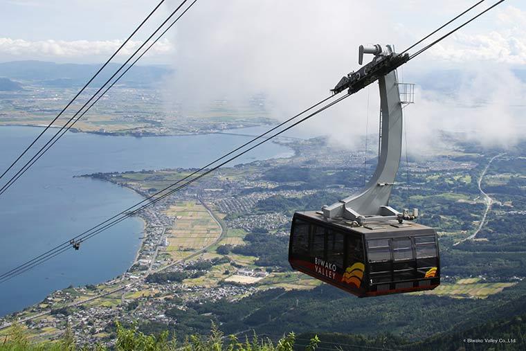 琵琶湖テラスのロープウェイ
