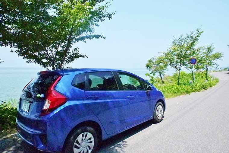 琵琶湖を眺めながら湖岸道路をドライブ!