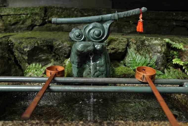 御劔社の焼刃の水