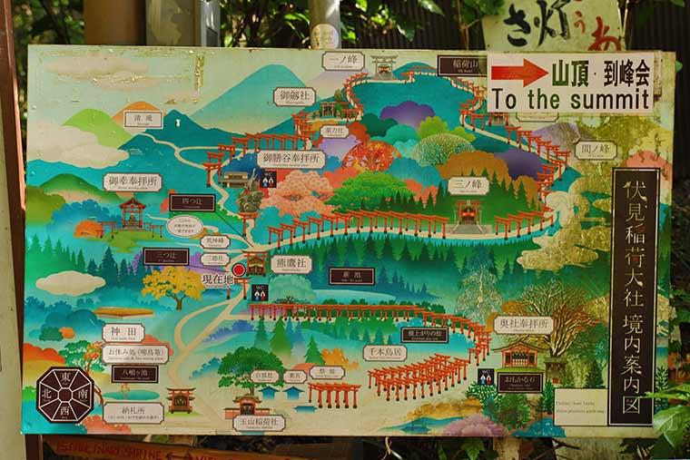 伏見稲荷大社の境内地図