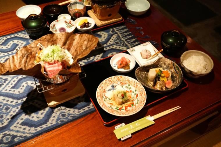 飛騨牛のステーキ定食