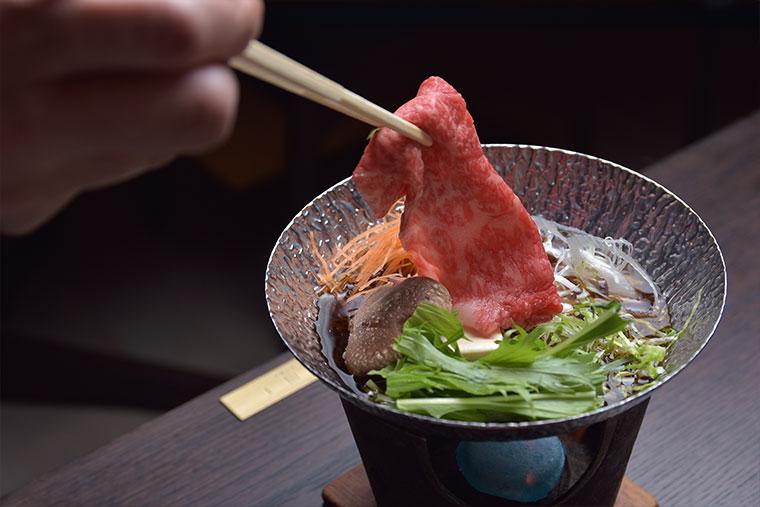 下呂温泉 小川屋 飛騨牛を使った食事