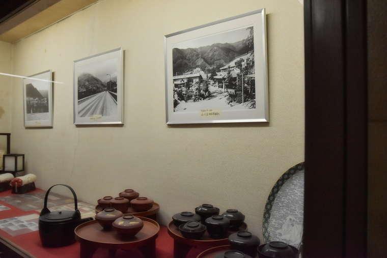 下呂温泉 小川屋 旅館の歴史を物語るコーナー