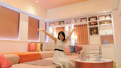 ユニバーサル・スタジオ・ジャパンへの女子旅ならココ!ホテル ユニバーサル ポート「Girlyルーム」
