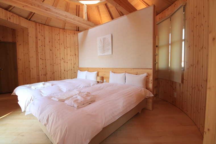 星のコクーンの寝室