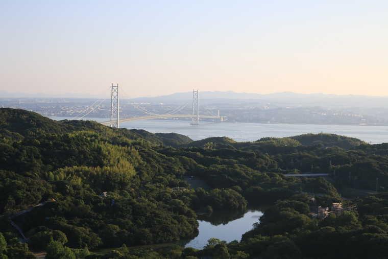朝の展望台からの景色