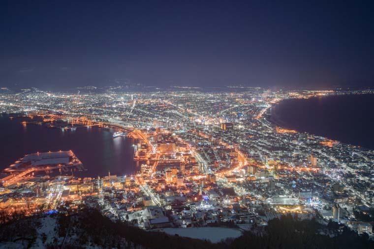 箱館山から見える函館の夜景