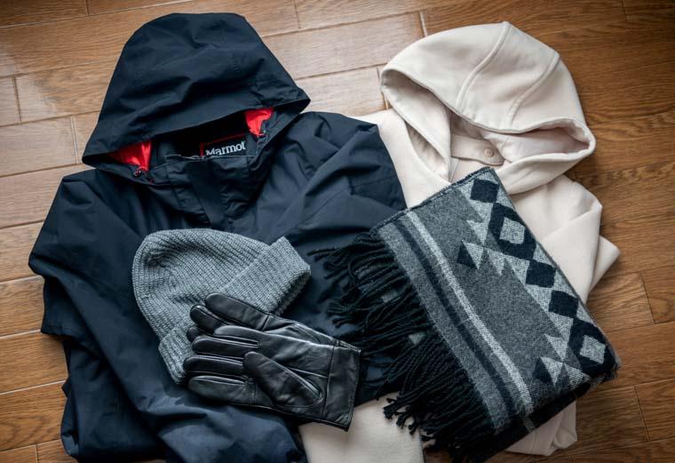 冬の函館山に行く服装