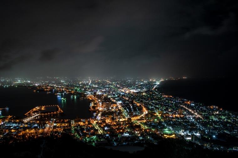屋上展望台から見える夜景