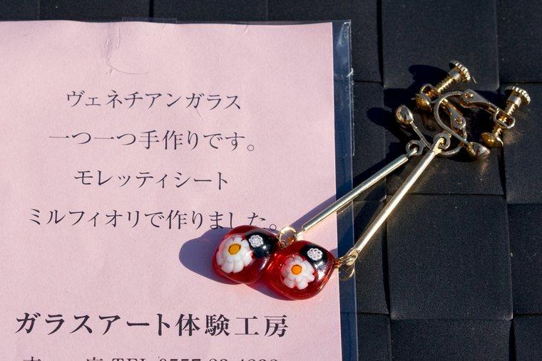 箱根湯本駅前体験工房 イヤリング