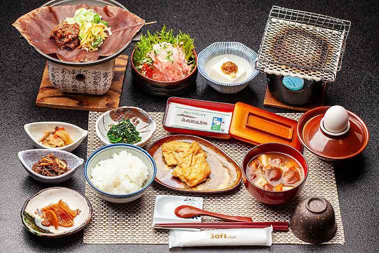 奥飛騨温泉郷 花ごころ万喜(ばんき) 朝食