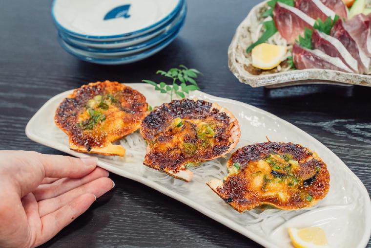 甘辛い味噌で焼き上げた長太郎貝