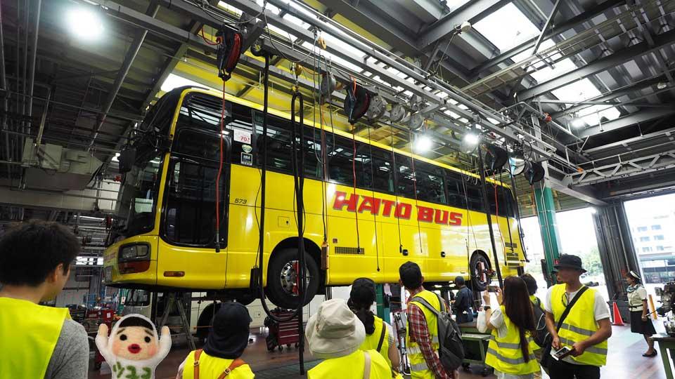 はとバス整備工場ツアー行ってみた⑧