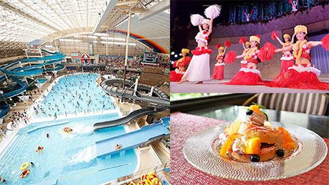 スパリゾートハワイアンズへ週末旅行!プールやショー、グルメを満喫