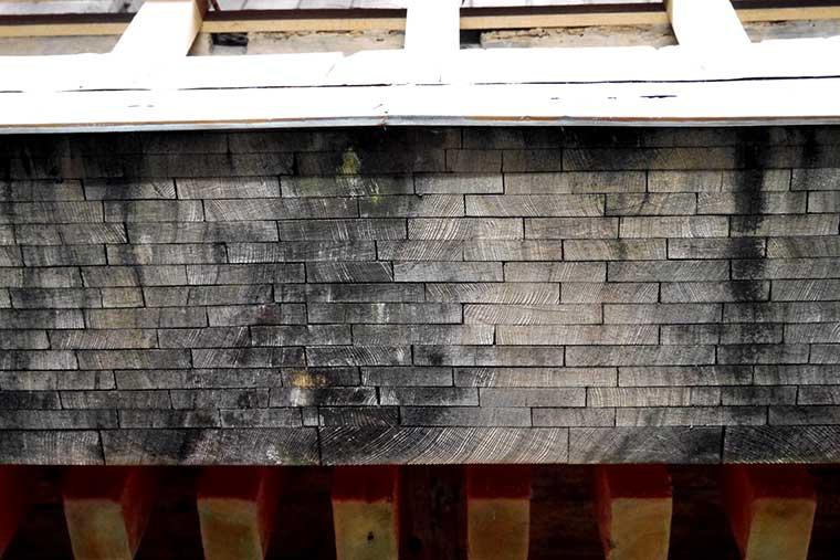 比叡山延暦寺 根本中堂 屋根葺き替えの様子