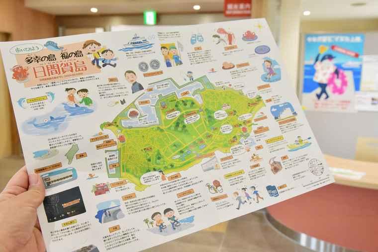 日間賀島 散策マップ