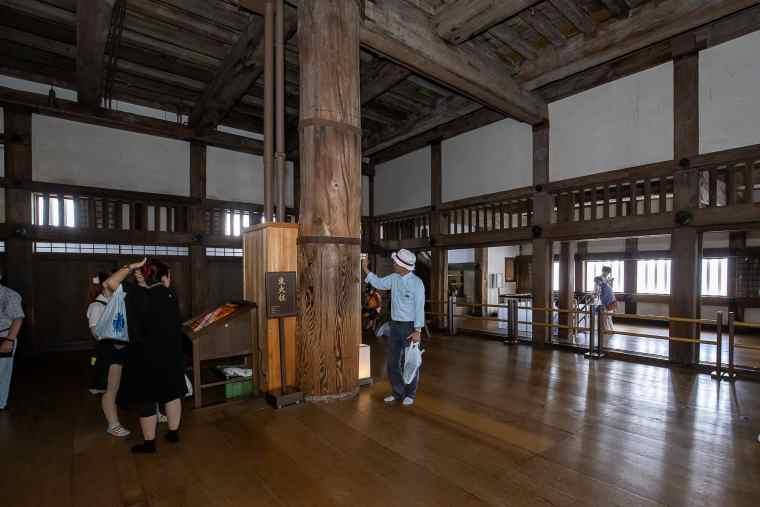 姫路城の大柱