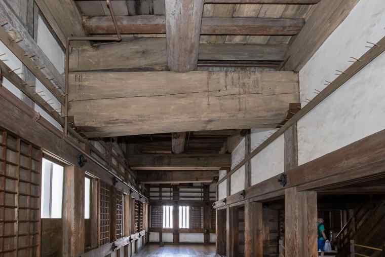 姫路城の梁