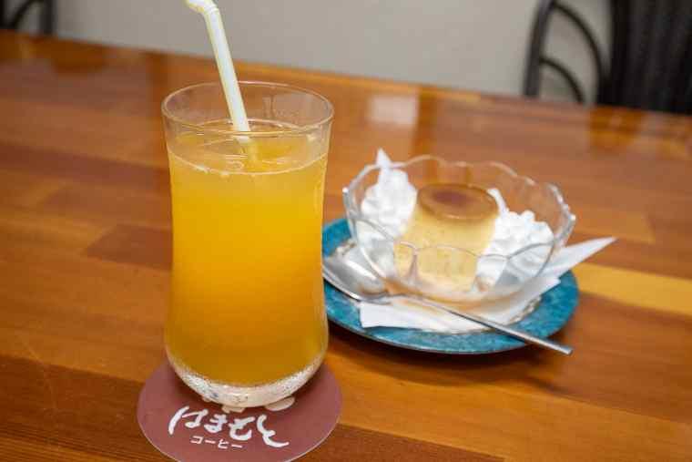 はまもとコーヒーのオレンジジュース