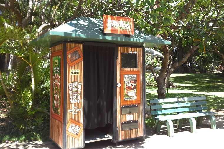 ホノルル動物園限定のプリントシール機
