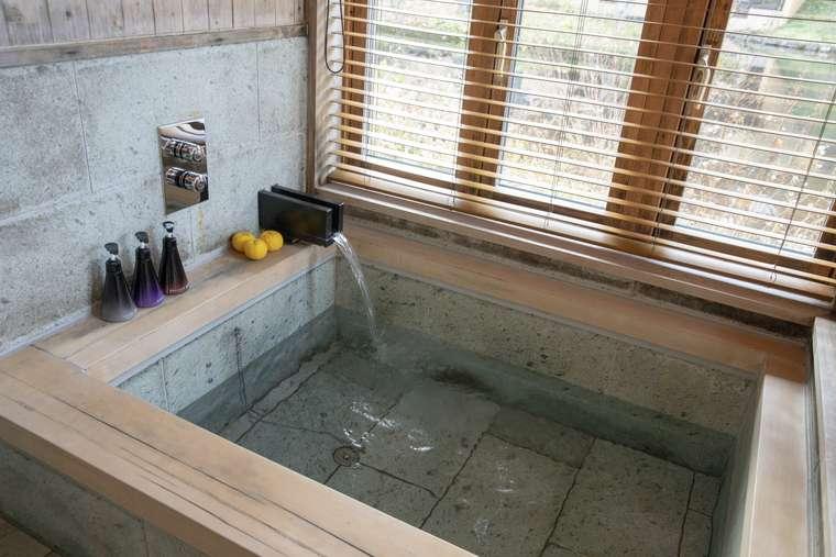 星のや軽井沢 部屋風呂