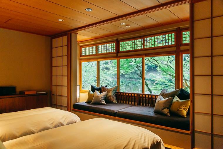 星のや京都 月橋ツイン 寝室
