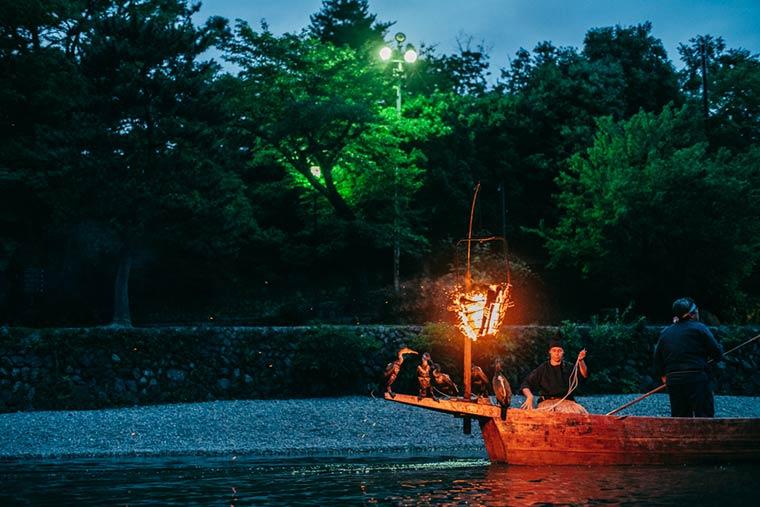 星のや京都 鵜飼鑑賞