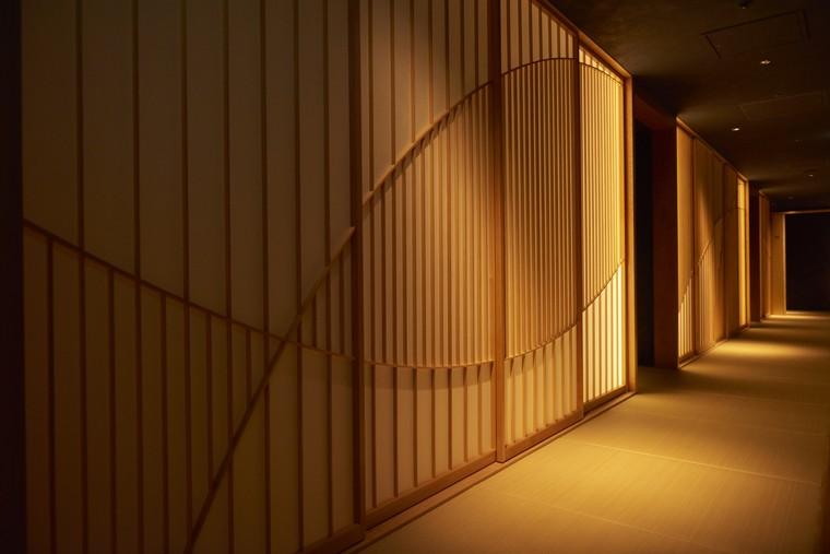 星のや東京 客室 畳敷きの廊下